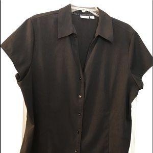 Cato black tailored dress shirt